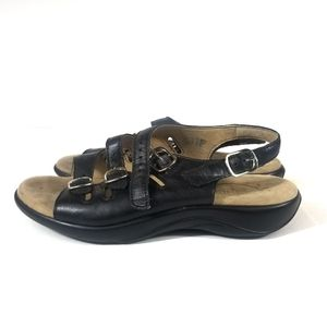 SAS Womens Tripad Sandals Size 7.5 W Black Sandals